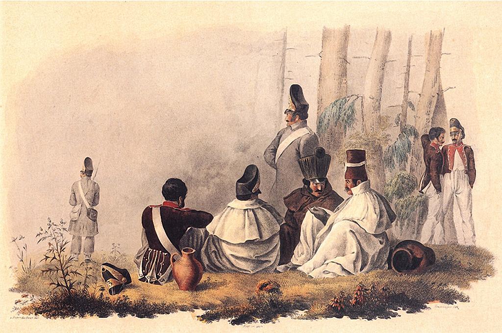 На биваке перед Гжатском, 2 сентября 1812 года