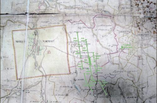 Позиция российских армий при Ивашкове. Фрагмент карты Гжатского уезда, 1776 года.