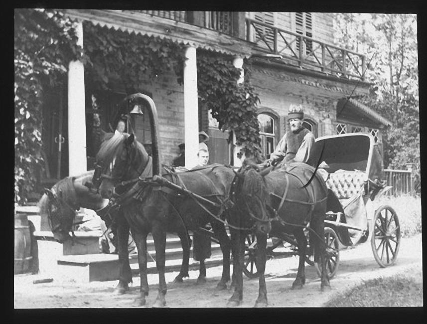 Тройка перед домом Ячевских. Лето 1903 года